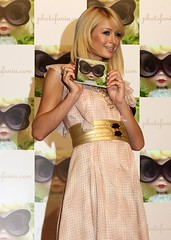 Paris Hilton no lançamento do cd Suicide Blond, de Corinne Marx =0D