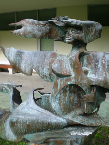 Efrain Recinos 'Siren in the Clouds' 1965, Lowe Sculpture Garden, University of Miami, Miami Florida
