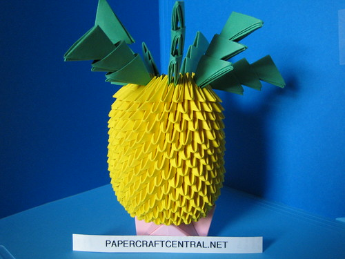 3d Origami Pineapple A Photo On Flickriver