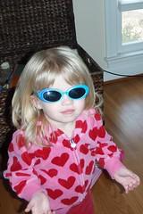 rocking her sunglasses