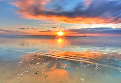 Oregon Beach February Sunset (JamesWatkins) Tags: ocean blue sunset sea usa sunlight seascape lightpainting art nature glass beautiful beauty fog oregon america writing reflections coast interesting poetry nw waves seascapes sundown pacific northwest unitedstatesofamerica digitalart shoreline wideangle brightlight beaches northamerica wa coastline oregoncoast poems sunrays westcoast brightness beautifulclouds pacificcoast sunbeams poets thebeach digitalphotography orangeandblue waterreflections sunandwater cubism d300 sigma1020mm nkon blueocean creativewriting pacificcoastline sunandsky creativewriters goldandblue deepbluesea beachsunsets sunscapes skycolors oceanscape beautifulsunsets colorfulsunsets alittlehdr jameswatkins theleftcoast cloudsandwater goldensunsets orangesunsets colourartaward glasswaves