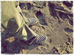 Serch And His Vans In The Sand ( Jovas  ) Tags: beach sergio sand arena vans playasdetijuana playas serch