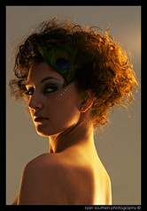 big hair rachel (s o u t h e n) Tags: lighting portrait beautiful beauty backlight hair studio prime beads model eyes nikon ryan 14 50mm14 bighair coop d200 seductress nikkor 2009 studioportrait studiolighting thecoop peacockfeather nikkor50mm nikond200 southen ryansouthen