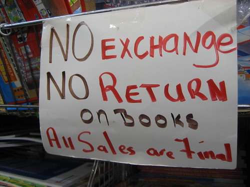 No exchange sign