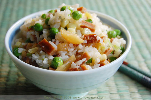 Vegetarian BBQ Pork Fried Rice