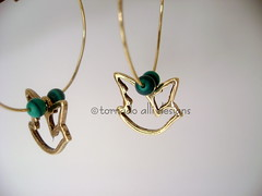 dove charm hoops (tornadoallidesigns) Tags: metal turquoise dove jewelry earrings etsy goldfilled uniquegift tornadoallidesigns