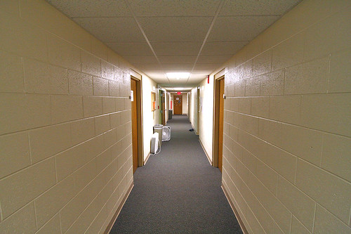 How a hallway looks through an ultra-wide lens