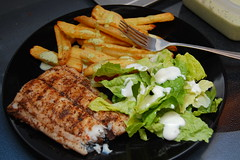 Dinner (little_lily84) Tags: fish jerk grilledfish carite steakfries