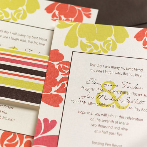 Blooms and Stripes Invitation