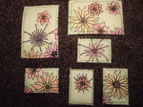 doodle postcards and ATCs