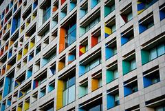 Banderas (chαblet) Tags: santafe building méxico arquitectura edificio colores ventanas α100 chablet