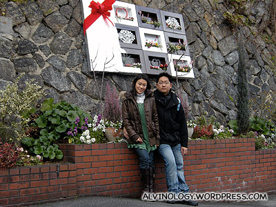 On a slope in the street of Kitano