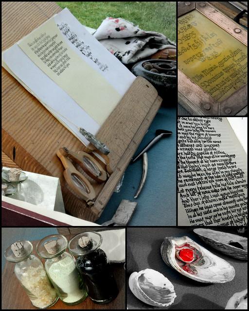 Manuscript writer's desk