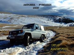 Andorra - Pyrenees  2008 (adolfo_lulo) Tags: 4x4 nieve andorra pyrenees pirineos snowroad toyotalandcruiser lulo lj70 luloadventure