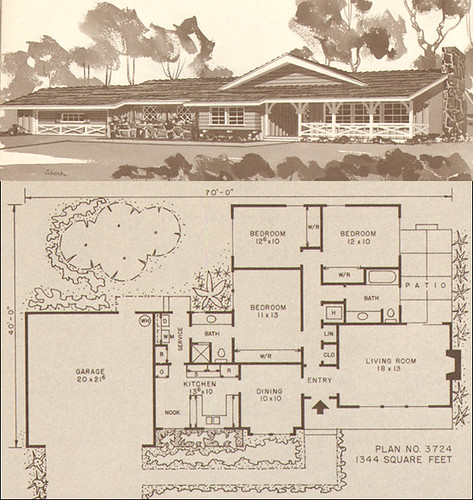 1960 Modern House Plan - Better Homes & Garden Five Star Home Plans