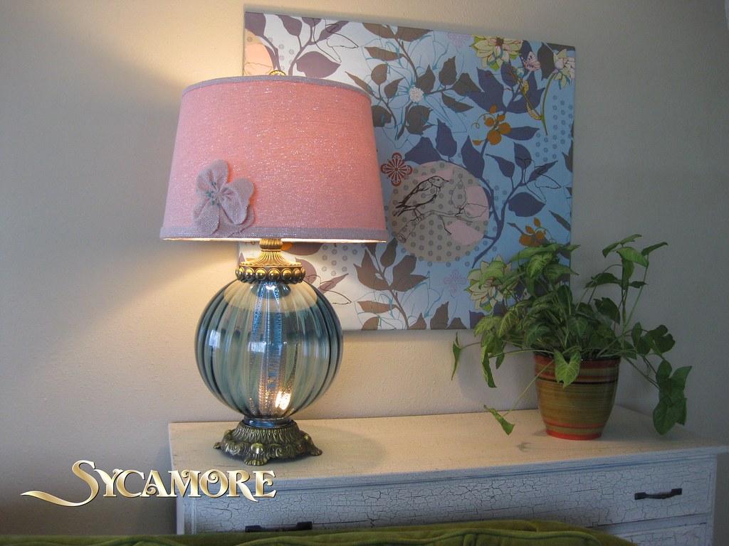 Flower Lamp Shade : Glass flower lamp shade bach flowers remedies
