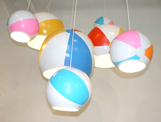 Beach Ball Lamps, Toby Sanders, Milan Furniture Fair, Designersblock Show