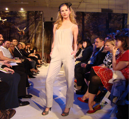 PED Runway Show: White Alviso jumpsuit by Loyale