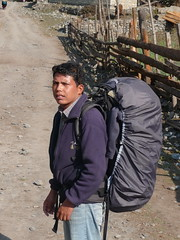 Kumar, my porter/guide