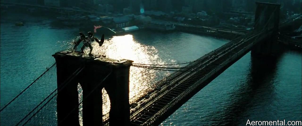 Transformers 2 puente bandera