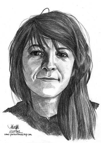 Pencil portrait of Sonja