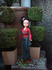 brunette in garden (Blackberry Pie Designs) Tags: vintage doll sindy