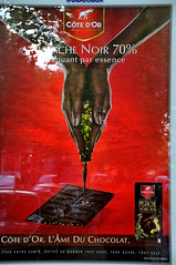 The chocolate making ad by Cte d'Or Full (jmvnoos in Paris) Tags: red paris france advertising poster rouge pub nikon chocolate ad chocolates fr publicit champselyses chocolat affiche d300 75008 chocolats ctedor abigfave jmvnoos
