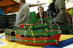 Meccano boat (Val in Sydney) Tags: newzealand christchurch metal shop fun toy boat diy construction market fair nostalgia nz southisland jouet doityourself nostalgie meccano enfance
