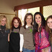 Jill Collins, Laura Alpert, Claudia Deutsch, Barbara Lazaroff, Lily Collins at Beverly Hills Women's Club event for Aviva