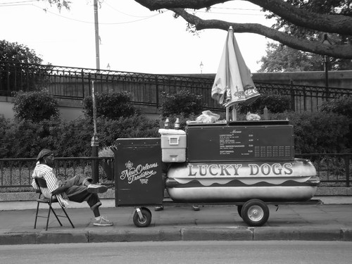 Lucky Dogs. New Orleans downtown.