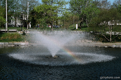 Bowring Park Fountain with Rainbow