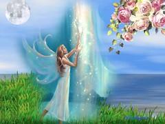Hada bailando bajo la luna
