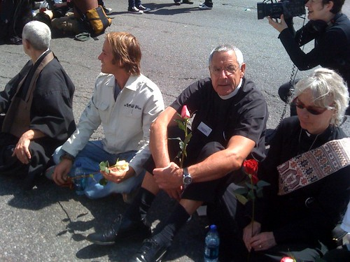 Clergy Blocking Van Ness by Steve Rhodes