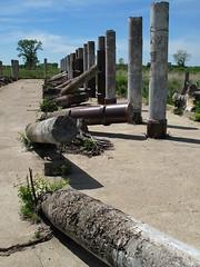 The Toppled Pillars of Ancient Rosemount (bjornery) Tags: minnesota bike bicycle century ride metro suburbs twincities exurbs 100miles umorepark gopherordnanceworks 100miler