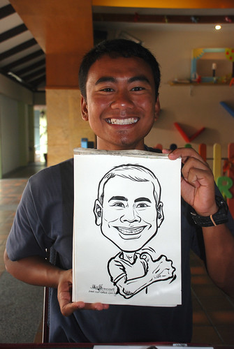 Caricature live sketching for Costa Sands Resort Pasir Ris Day 1 - 5