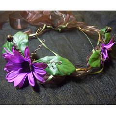 Purple Daisy Sprite (mairzydozy) Tags: cosplay medieval fairy renaissance hairaccessory headwreath