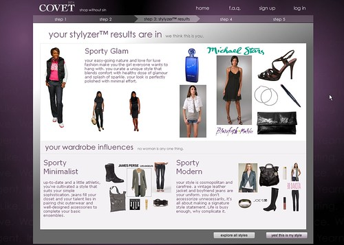 Covet.com Styler Results