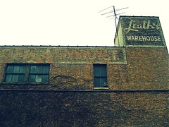 Leath's Warehouse (chicagogeek) Tags: building brick abandoned illinois crossprocessed empty warehouse elgin endangered kanecounty leath leaths