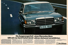 Mercedes-Benz S-Klasse W116 (1978) (jens.lilienthal) Tags: auto old classic cars car vintage print advertising mercedes benz media reclame ad voiture historic advertisement advert older oldtimer 1978 autos werbung mb reklame voitures anzeige youngtimer sklasse w116