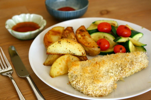 Panko breaded snapper