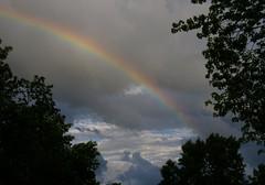 Rainbow (FlappinMothra) Tags: county light sky cloud sun sunlight storm rain weather minnesota clouds squall rainbow pentax bow thunderstorm carver sunlit thunder chaska k100d justpentax minnesotathunderstorms