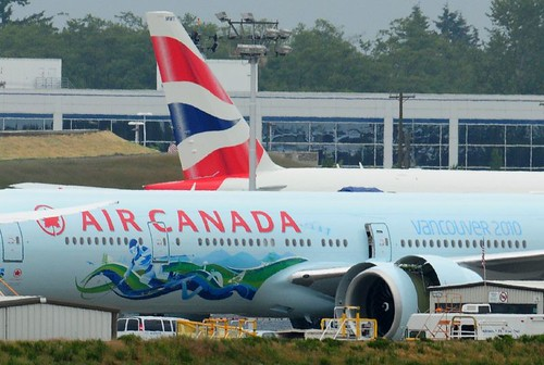 Air Canada C-FIVS Tail 742 Boeing 777 With 2010 Olympic Murals