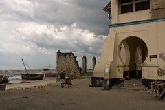 remnants of times past (Swiv) Tags: history beach clouds tanzania coast ominous colonial dhows customshouse bagamoyo lpdamaged