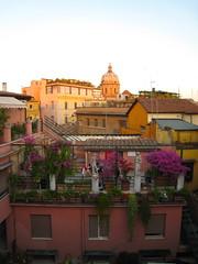 Rooftop View of San Carlo ai Catinari (ZanyShani) Tags: trip italy rome roma june italia 2009 albergodelsole sancarloaicatinari solealbiscione albergosole