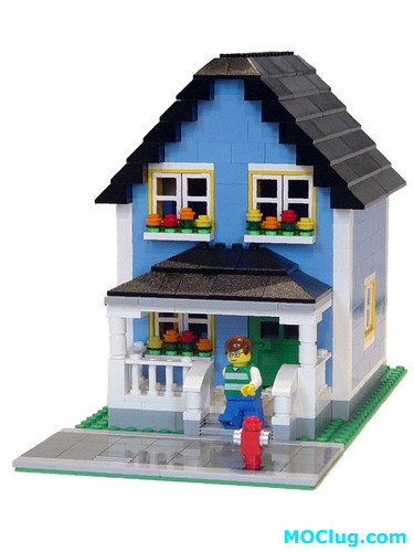 Moc lime green house lego town eurobricks forums