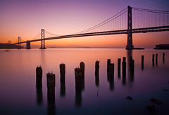 Bay Bridge Sunrise (chris lazzery) Tags: sanfrancisco california longexposure bridge sunrise oakland 5d sanfranciscobay canonef1740mmf4l bw30nd