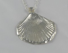 """""""Seashell"""" Silver Necklace (EfratJewelry) Tags: silver handmade jewelry jewellery sterling 925 silversmith metalsmith sterlingsilver          efratjewelry"""