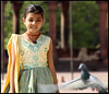 Jaipur Girl (LouiseHB) Tags: india girl necklace dress pigeon dove jaipur