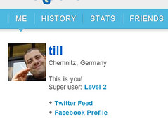Foursquare: my profile