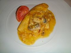 Tortilla cremosa de anchoas frescas
